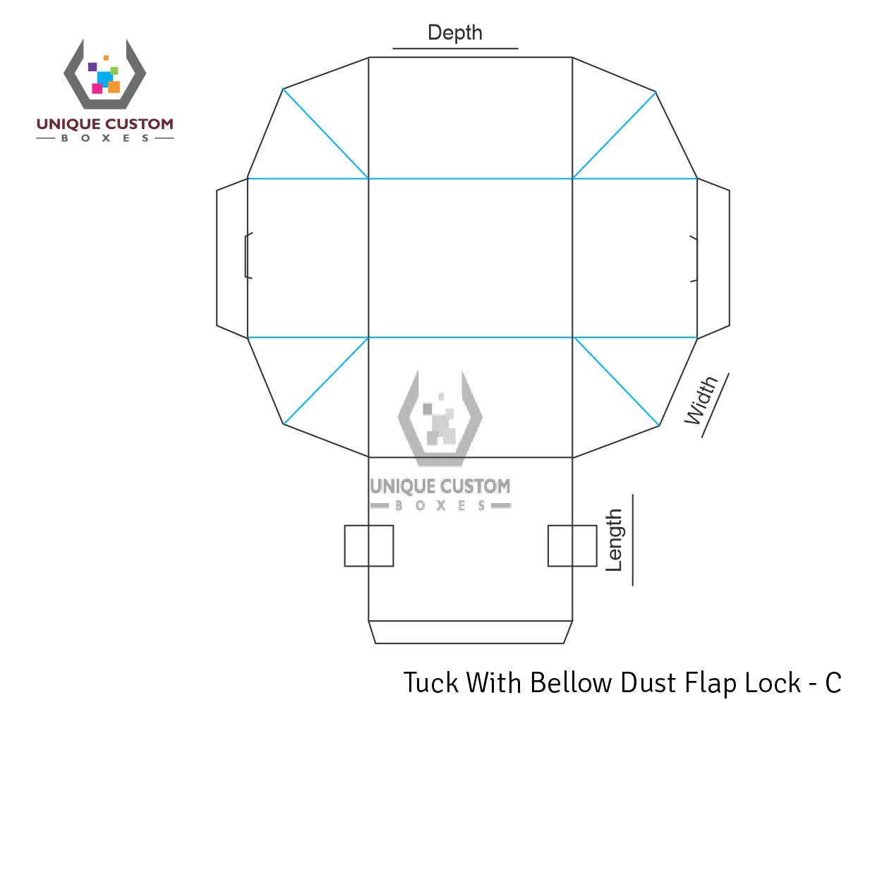 Tuck With Bellow Dust Flap Lock-3